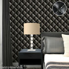 Vinyl Rustic Vintage Luxury 3D Leather Effect Headboard Wallpaper Roll 10M