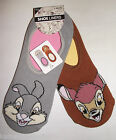 PRIMARK LADIES GIRLS 2 PAIRS DISNEY / LICENSED INVISIBLE SHOE LINERS SOCKS 4 - 8