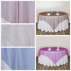 """6 pcs 90x90"""" Sheer ORGANZA Overlays Wedding Party Table Decorations"""