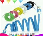 1M/2M/3M Flat Noodle USB Charger Sync Data Cable For Android Phones US17-24