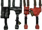 TAGUA Leather X-Harness Shoulder Holster w/ Double Mag - Choose Gun and Color!
