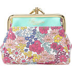 Buxton Ditsy Floral Pik-Me-Up Triple Frame 2 Colors Ladies Small Wallet NEW