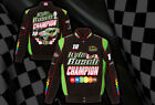 Kyle Busch 2015 Nascar Sprint Cup Champion Mens Black Green Jacket by JH Design
