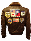 Tom Cruise Top Gun Brown A2 Jet Fighter Bomber Stylish Leather Jacket...