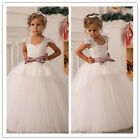 Lace Princess Flower Girl Dresses for Birthday Wedding Prom Pageant Party Sleeve