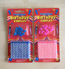 24 x Birthday Candles with candle holders in BLUE & PINK Trusted UK Seller