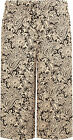 Womens Plus Size Abstract Paisley Print Wide Leg Culottes Ladies Shorts 12-30
