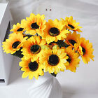 1 Bouquet 7 14 Heads Artificial Sunflowers Floral Flower Home Cake Shop Decor