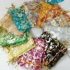50-400X 7X9cm Organza Gift Bags Heart Pouches Wedding Party Favours Jewelry Bags