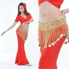 Belly Dance Beads Coins Bells Hip Scarf / Belt 2 Colors 4 Styles