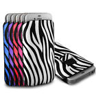 Protective Zebra Pull Tab Pouch Cover Case for Samsung Galaxy Mobile Phones