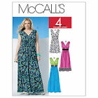 McCalls 6073 Sleeveless surplice V-neck Mini Maxi Dress Sewing Pattern M6073