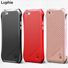 Luxury BAT Shockproof Aluminum Metal Leather Case Cover For iphone 6 6S Plus