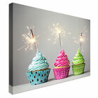Cupcakes and Sparklers Canvas wall Art prints high quality great value