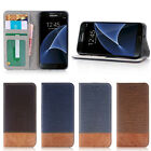 Magnetic Flip Cover Card Wallet Leather Stand Case For Samsung Galaxy S7 /Edge