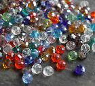 Faceted Rondelle Abacus Crystal Glass Beads CHOOSE COLOUR. Size 4mm 6mm 8mm 10mm