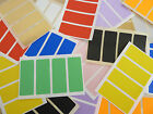 50x20mm Rectangular Mixed Coloured Colour Sticky Labels Stickers - 10 Colours