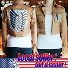 Attack on Titan Shingeki no Kyojin Scouting Legion Cosplay Jacket Coat Eren