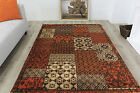 Modern Soft Easy Clean Terracotta Patchwork Rugs Small Large Contemporary Mats