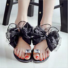 New Women's Summer Rhinestone Slippers Flip Flops Sandals Flat Beach Shoes