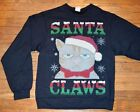 Christmas Ugly Sweater Sweatshirt SANTA CLAWS Adult Men's Crew Neck
