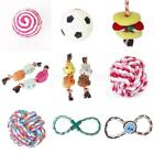 Pet Dog Cat Braided Cotton Tug Chew Fetch Rope Knot Ball Teeth Clean Play Toy
