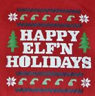 Happy ELF'N Holidays Men's Christmas Tee Adult T-Shirt New with Tags