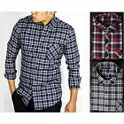 ECHT Flannel Shirt MENS CHECK BUSINESS CASUAL FORMAL ]COTTON LONG SLEEVE WORK