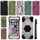 For Apple Iphone 6 Plus 5.5 inch PATTERN HARD Protector Case Phone Cover + Pen