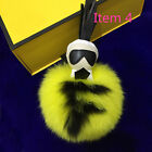 Real Fox Fur Monster Doll Luxury Key Chain Car Bag iPhone 6 Ornament F 158