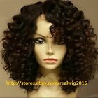 """10""""-14"""" Deep Curly 100% Indian Remy Human Hair Lace Wigs Full Lace/Lace Front"""