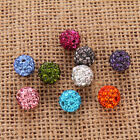 20pcs&8mm/10mm Round Rhinestones Crystal Czech Pave Clay Disco Ball Spacer Bead