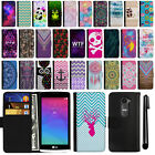 For LG Leon C40 LS665 Magnetic Flip Wallet Leather POUCH Case Phone Cover + Pen