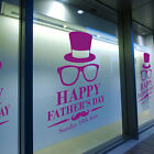 Happy Father's Day Wall & Window Stickers Dad Decals Shop A Window Display A346