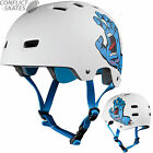 SANTA CRUZ / BULLET Skateboard Helmet Screaming Hand WHITE Roller Derby s/m l/xl