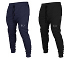 ECHT Navy Tapered Joggers GYM TRACKIES RUNNING SHORTS MENS PANTS ZIP TRACK PANT