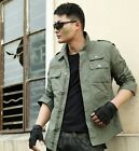 Stylish Men Casual Shirts Long Sleeve Slim Fit Coat Jacket Cotton Shirt Outwears