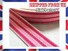 32MM Pink Striped Cotton Tape Webbing Belting CANVAS Fabric Strap Bag Making