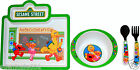 Sesame Street Elmo & Friends Mealtime Dinnerware Meal Set 4pcs