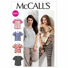 McCalls 6566 Easy T-shirt Dolman Sleeves Top XS - Plus Size Sewing Pattern M6566
