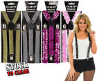 MENS LADIES ADJUSTABLE BRACES SUSPENDERS FANCY DRESS COSTUME SLIM DESIGN