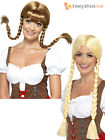 Ladies Bavarian Beauty Long Plaited Wig Adults Oktoberfest German Fancy Dress
