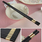 "5 Pairs Chinese Chopstick Tableware Resistant Glass Fiber Chop Sticks ""福"" Design"