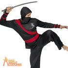 Adult Ninja Warrior Costume Mens Japanese Martial Arts Fancy Dress Outfit New