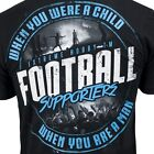T-SHIRT EXTREME HOBBY FOOTBALL SUPPORTERS PRINT BLUE HOOLIGANS ULTRAS GROUP