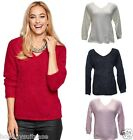 LADIES WOMANS CHRISTMAS FLUFFY SOFT TOUCH WINTER JUMPER SWEATER SIZE 10-34 UK