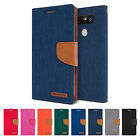 LG G5 G4 G3 V10 V20 Case GOOSPERY Canvas Denim Fabric Diary Wallet Flip Cover