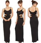Womens Strappy Maxi Dress Sleeveless Cut Out Full Length Ladies New Long 8-14
