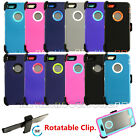 New Defender Shockproof Case Cover For Apple iPhone SE 6 / 6s Plus w/Belt Clip