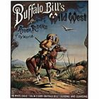 Buffalo Bill's Wild West Circus Ad White Eagle Col. WF Cody Vintage-Style Poster